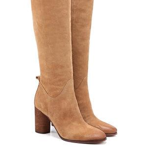 Sam Edelman Camellia Tall Suede Boot - Camel